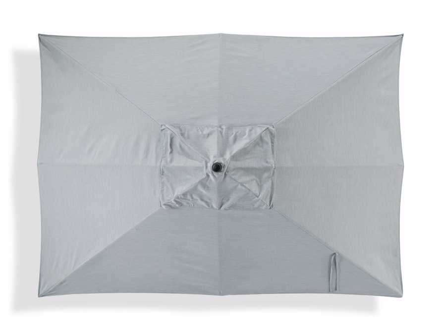 8' x 11' Rectangular Umbrella in Canvas Granite with Black Frame, slide 2 of 4