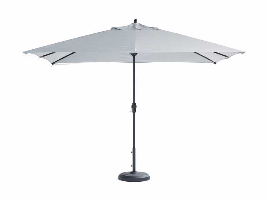 8' x 11' Rectangular Umbrella in Canvas Granite with Black Frame, slide 4 of 4