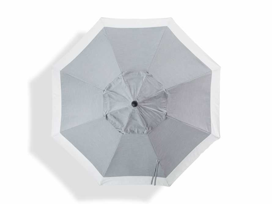 9' Octagonal Border Umbrella in Canvas Granite and White Trim with Black Frame, slide 2 of 4