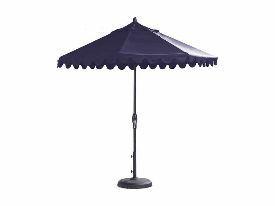 9' Octagonal Umbrella In Canvas Navy With Black Frame, slide 1 of 1