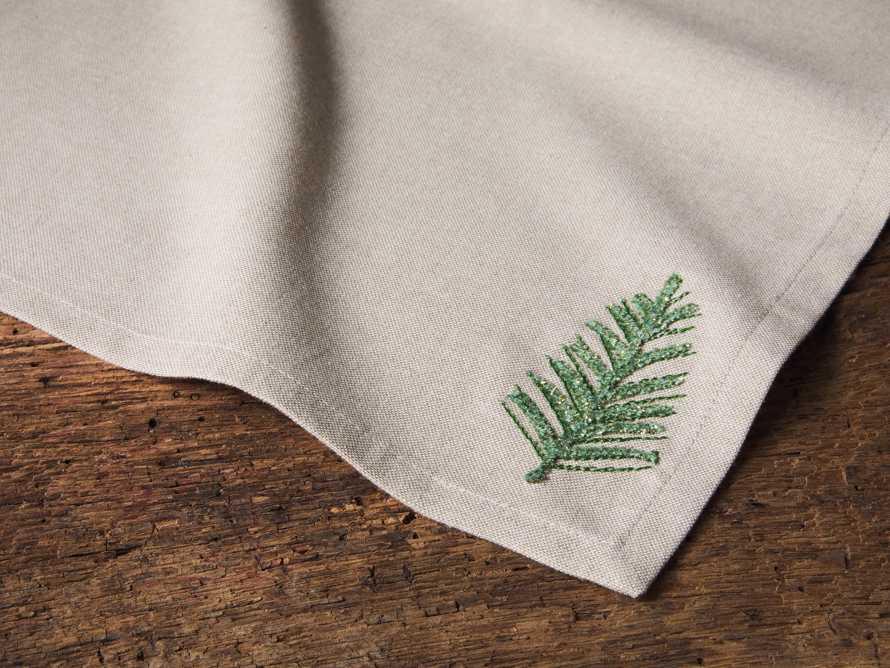 Set of 4 Alpine Embroidered Dinner Napkins, slide 2 of 3