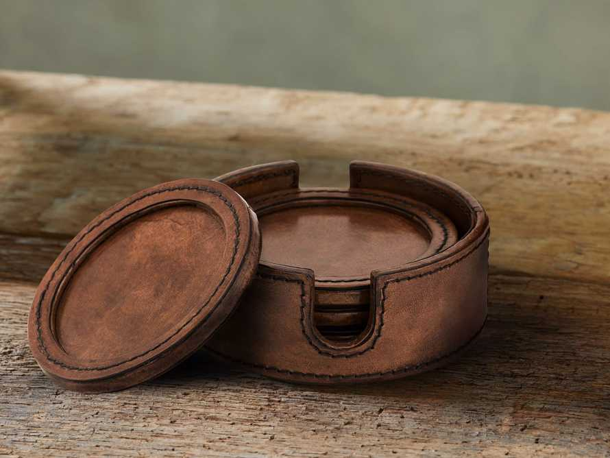 Andres Leather Coasters (set Of 4)