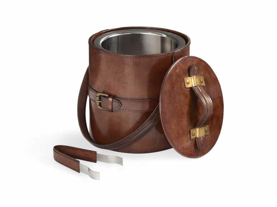 Andres Leather Ice Bucket