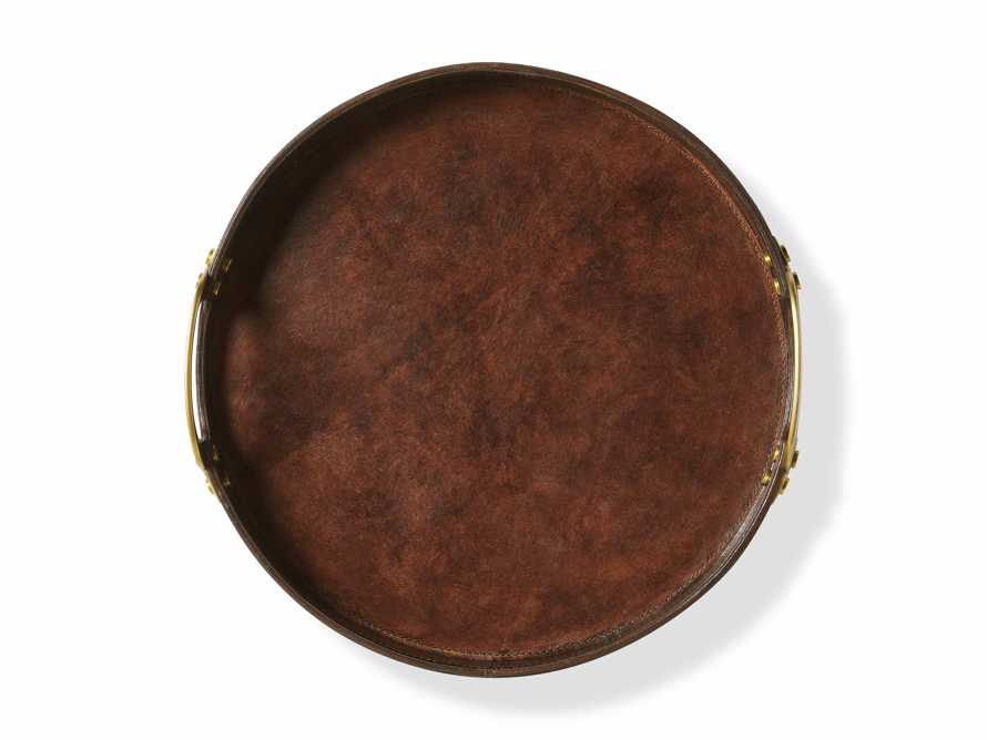 Andres Leather Round Tray, slide 4 of 4