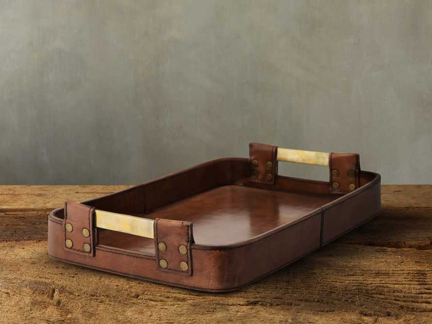 Andres Leather Tray, slide 1 of 3