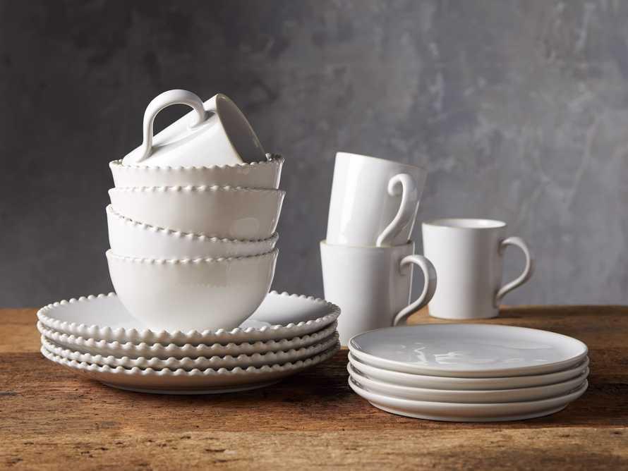 Avignon White Dinnerware (Set of 16), slide 1 of 2