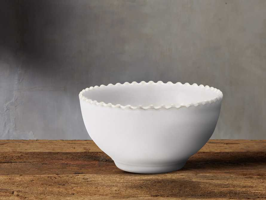 Avignon White Cereal Bowl Set with Pearl Trim (Set of 4), slide 1 of 2
