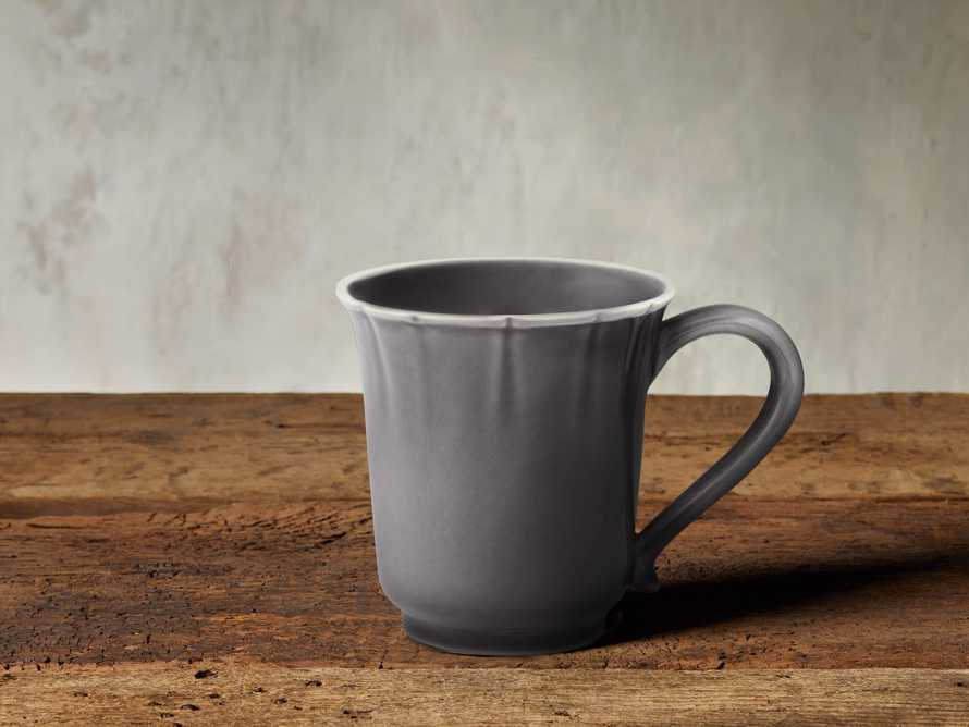 Avignon Grey Scalloped Mugs (Set of 4)