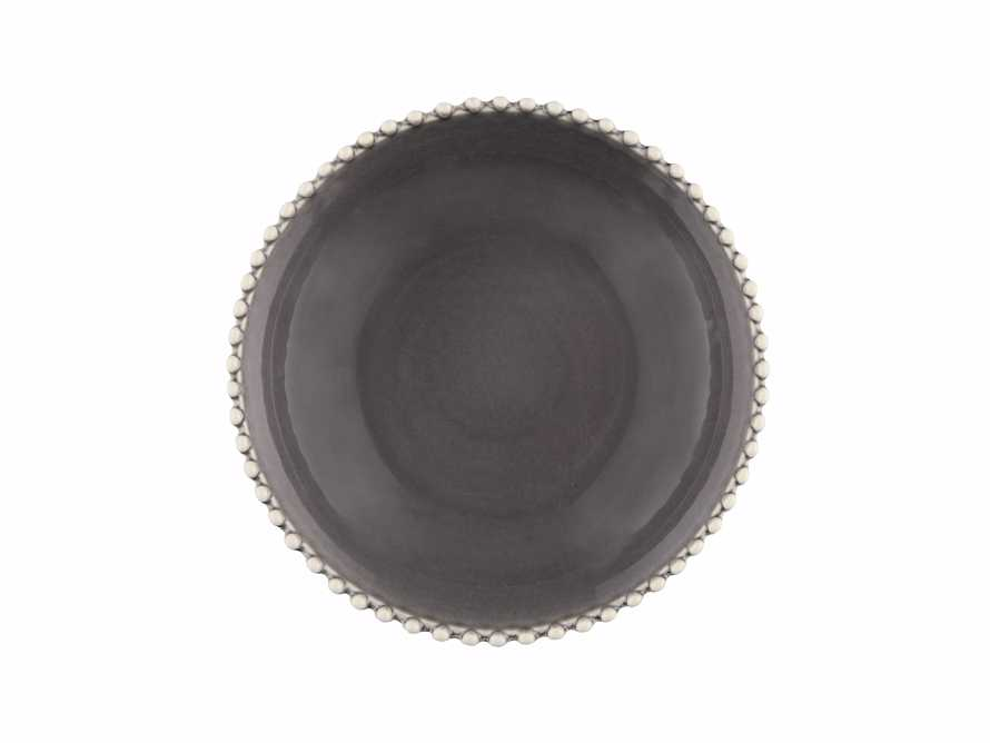 Avignon Grey Soup Bowls with Pearl Trim (Set of 4)