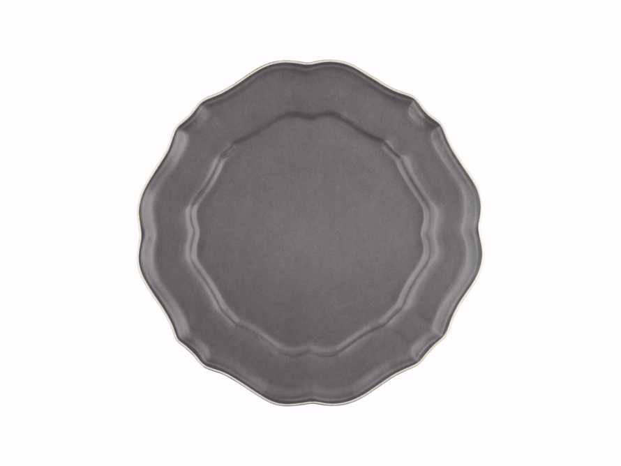 Avignon Grey Scalloped Salad Plate Set (Set of 4)