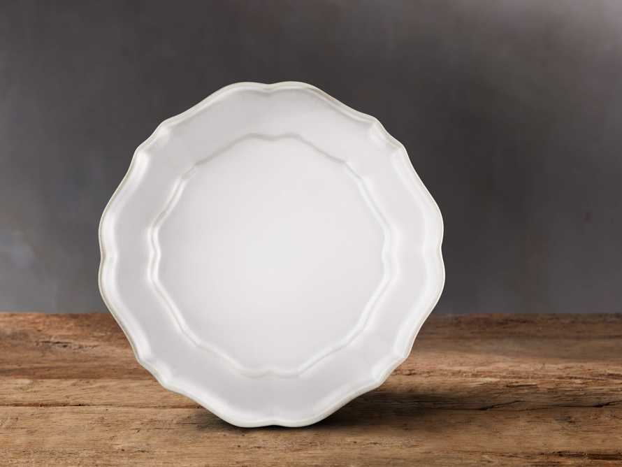 Avignon White Scalloped Salad Plate Set (Set of 4)