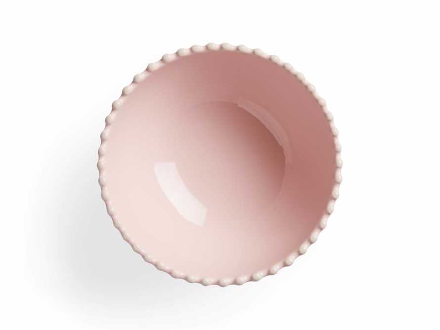 Avignon Blush Cereal Bowls with Pearl Trim (Set of 4)
