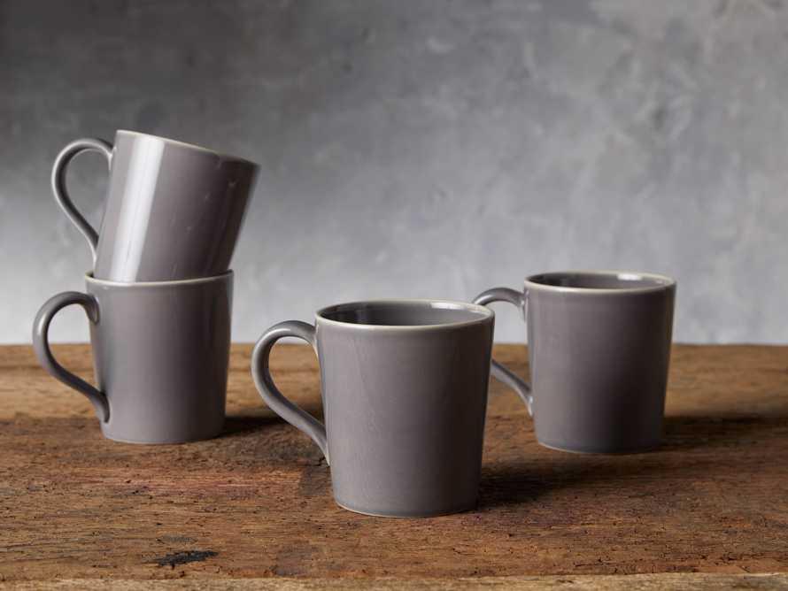 Avignon Grey Polished Mugs (set of 4)