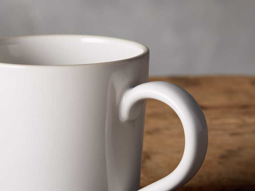 Avignon White Polished Mugs (set of 4), slide 3 of 4