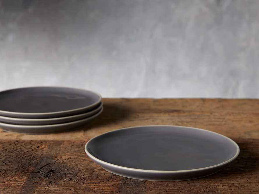 Avignon Grey Polished Salad Plate (set of 4), slide 2 of 4