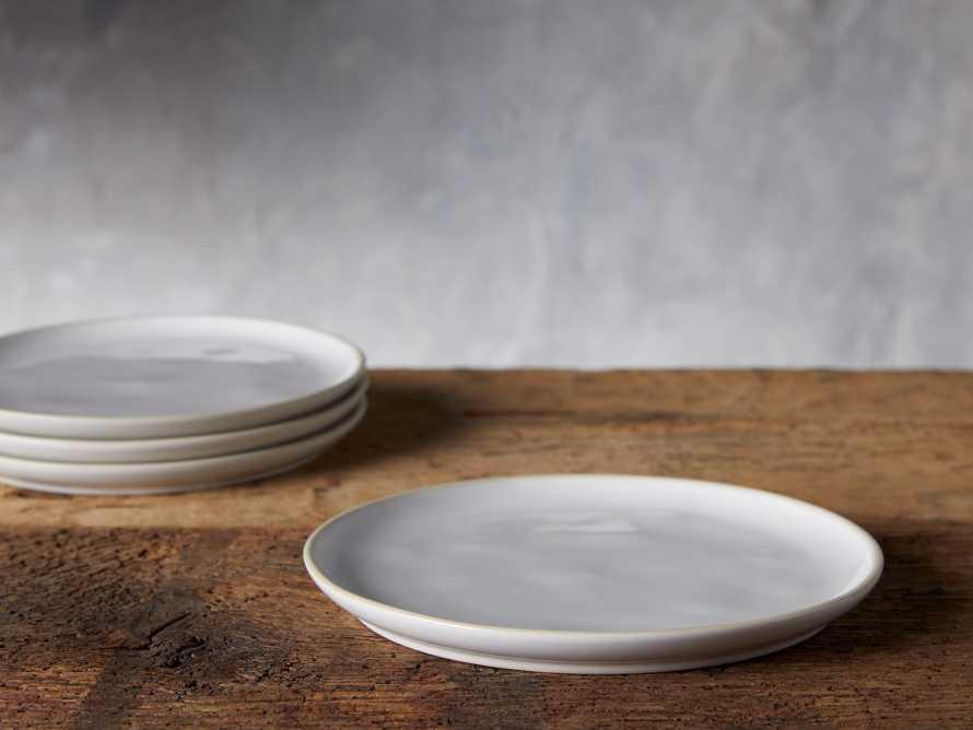 Avignon White Polished Salad Plate (set of 4), slide 2 of 4