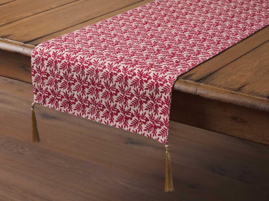Berry Print Table Runner, slide 1 of 3