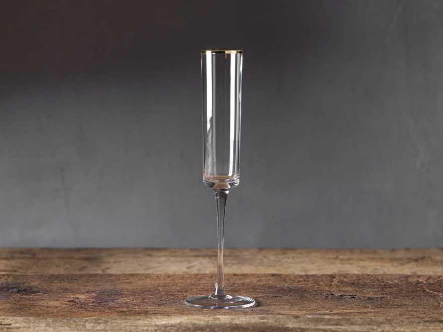 Gold Rimmed Champagne Flutes (Set of 6), slide 1 of 5