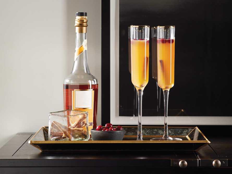 Gold Rimmed Champagne Flutes (Set of 6), slide 4 of 5