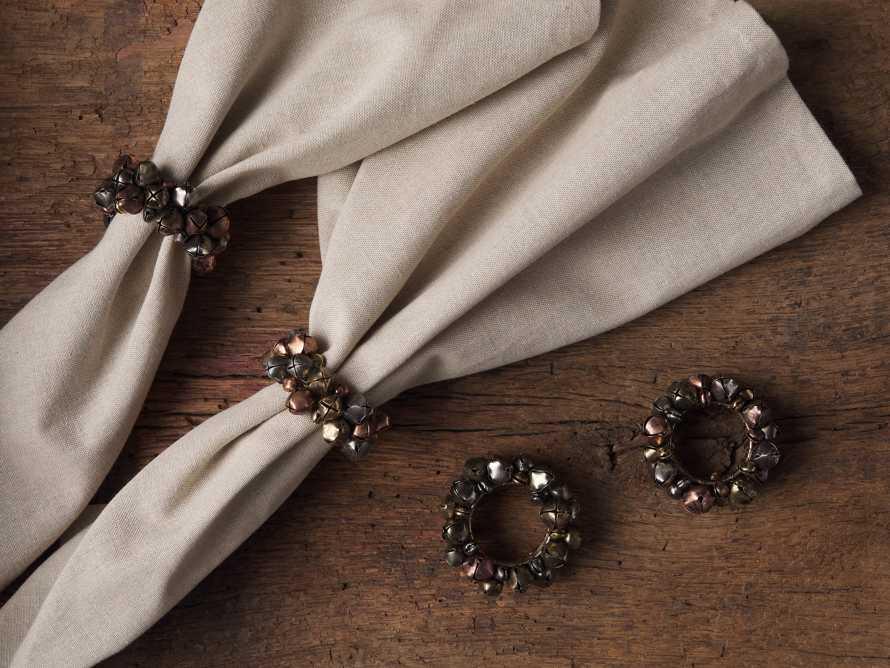 Set of 4 Jingle Bell Napkin Rings, slide 1 of 3
