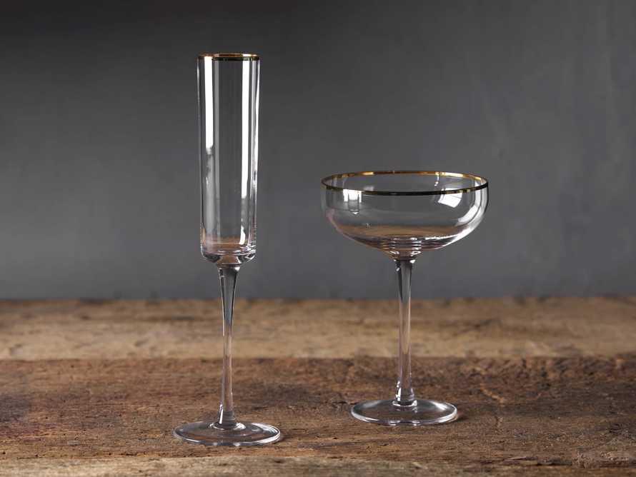Gold Rimmed Martini Glasses (Set of 4), slide 3 of 3