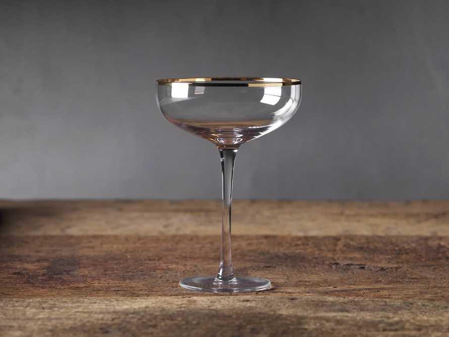 Gold Rimmed Martini Glasses (Set of 4), slide 1 of 3