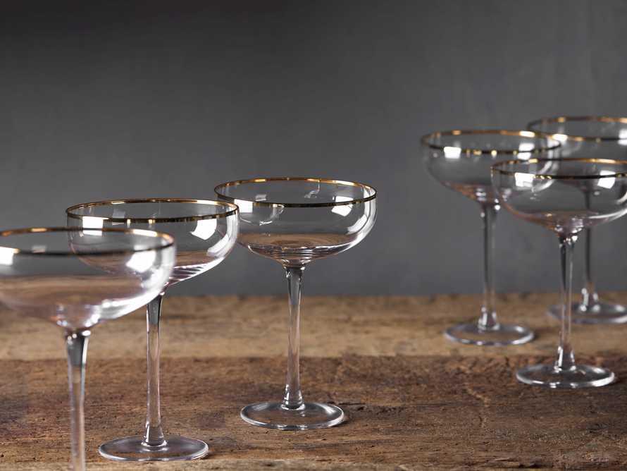 Gold Rimmed Martini Glasses (Set of 4), slide 2 of 3