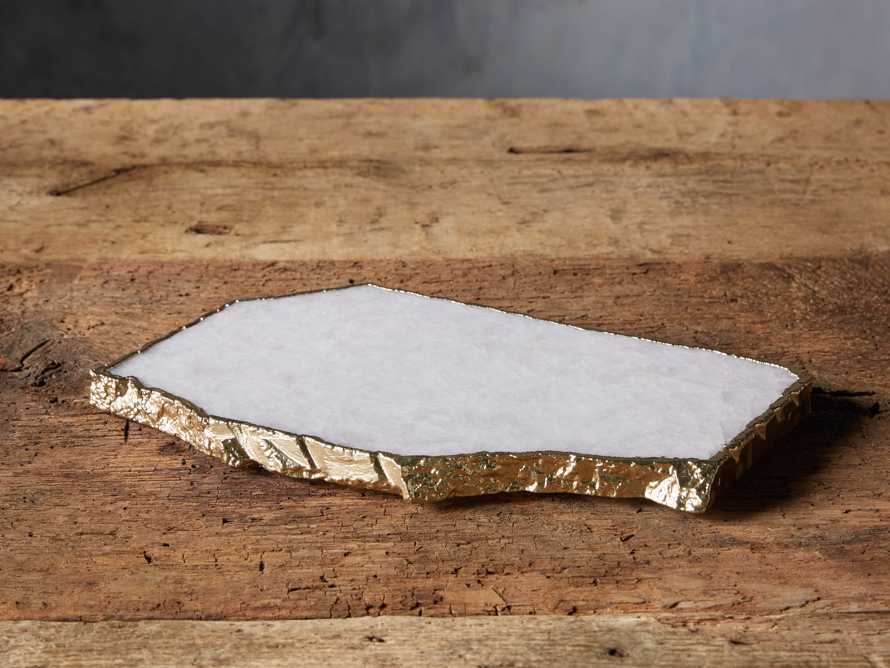 White Quartz Cheese Board, slide 1 of 9