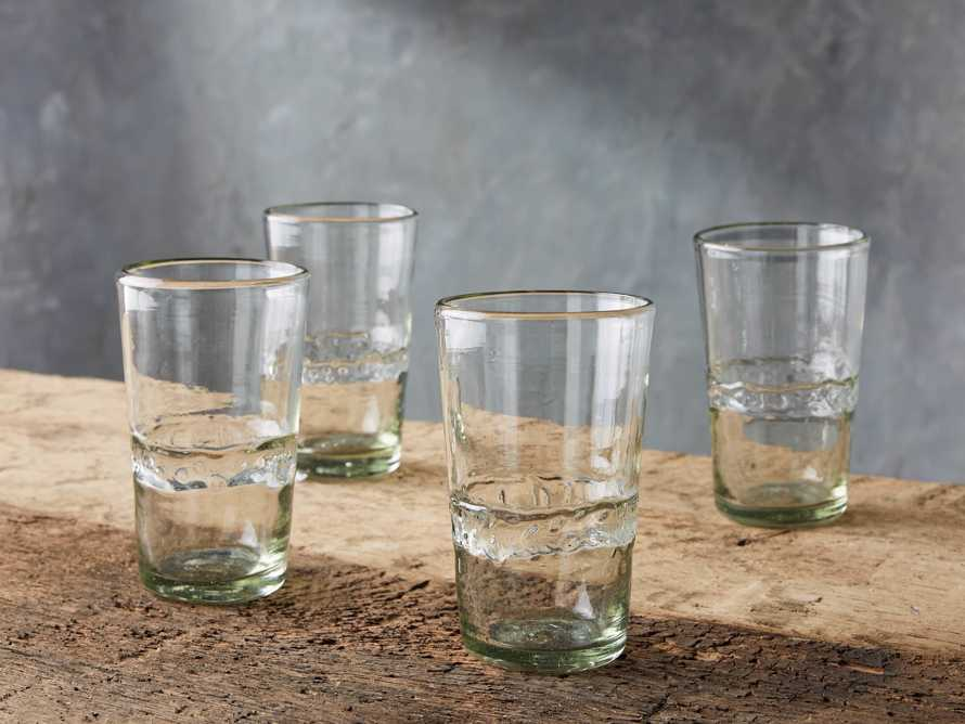 Ribbon Clear Highball Glasses (Set of 4)