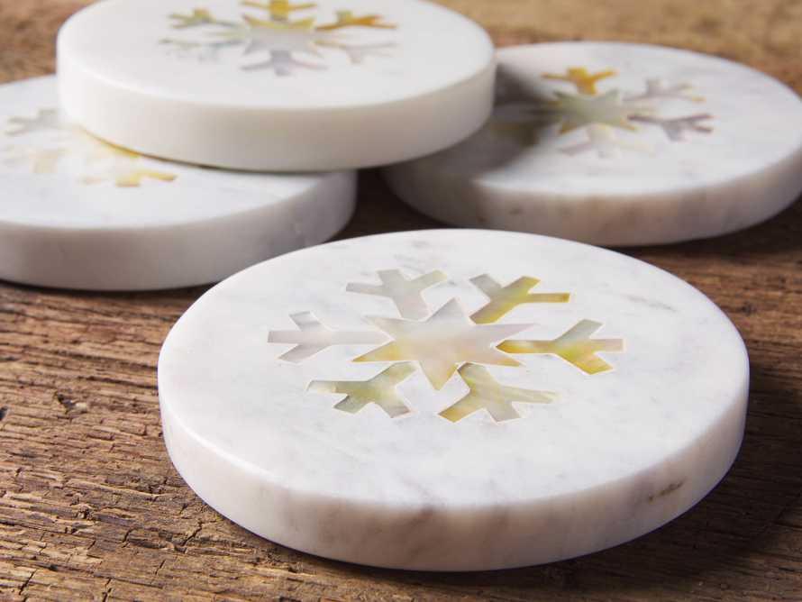 Set of 4 Snowflake Coasters, slide 3 of 3
