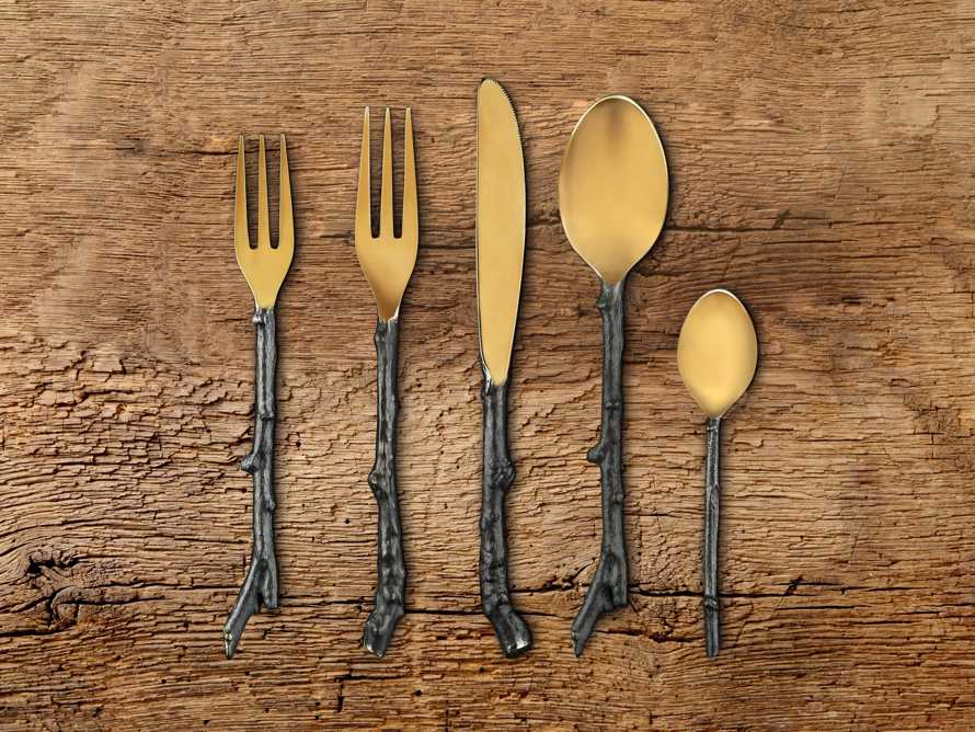 Twig 5 Piece Place Setting in Brass