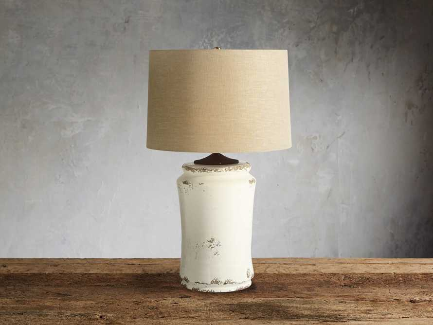 Ghent Terracotta Table Lamp in White, slide 2 of 6
