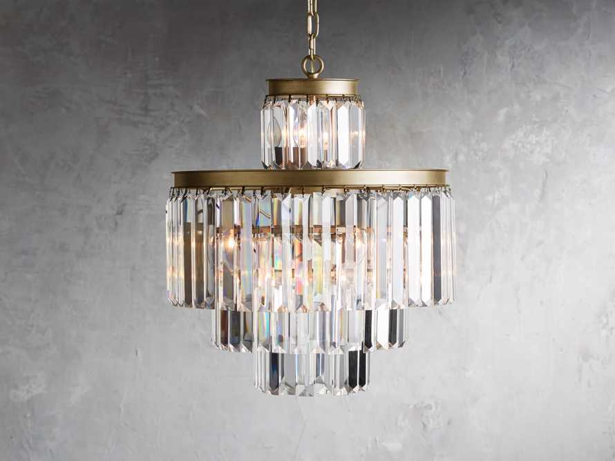 Leyland 11 Light Chandelier in Brass