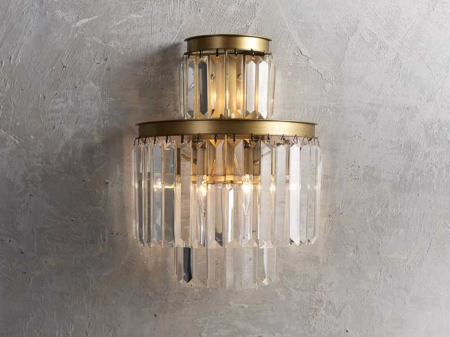 Leyland Wall Sconce in Brass, slide 1 of 3