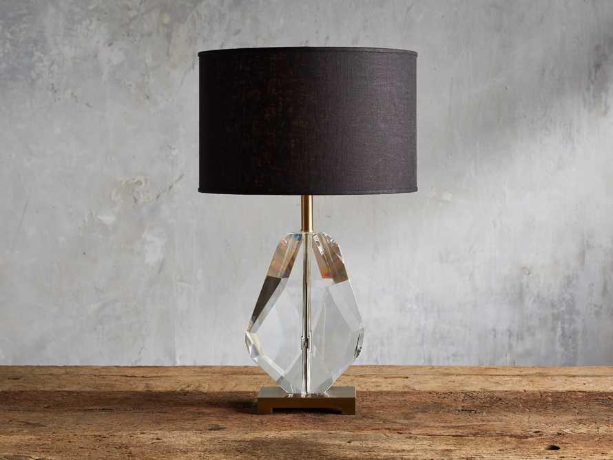 Lola Teardrop Table Lamp With Black Shade, slide 1 of 4