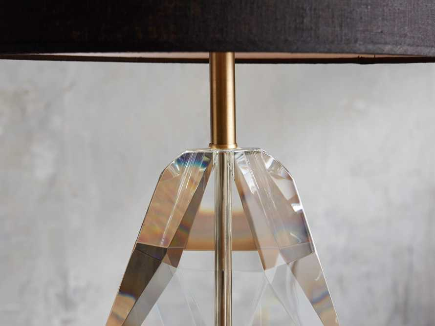 Lola Teardrop Table Lamp With Black Shade, slide 2 of 4