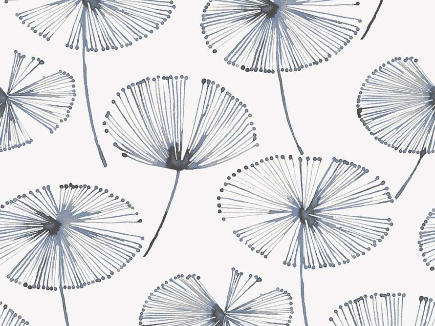 Fronds in Flight Wallpaper in Navy