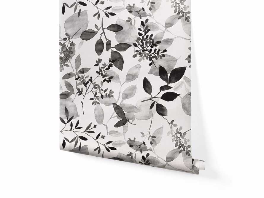 Watercolor Botanicals Wallpaper in Black