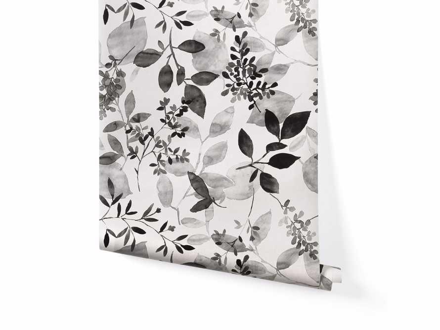 Watercolor Botanicals Wallpaper in Black, slide 2 of 4