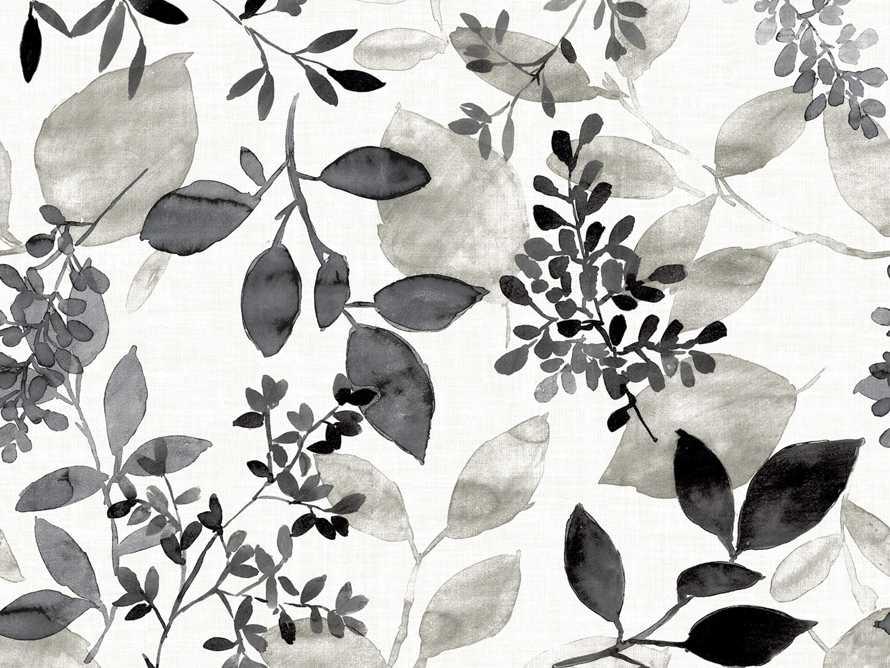 Watercolor Botanicals Wallpaper in Black, slide 3 of 4