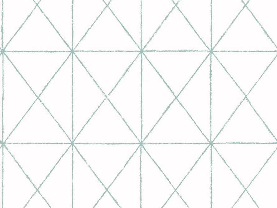 Prism Wallpaper in Turquoise, slide 1 of 1