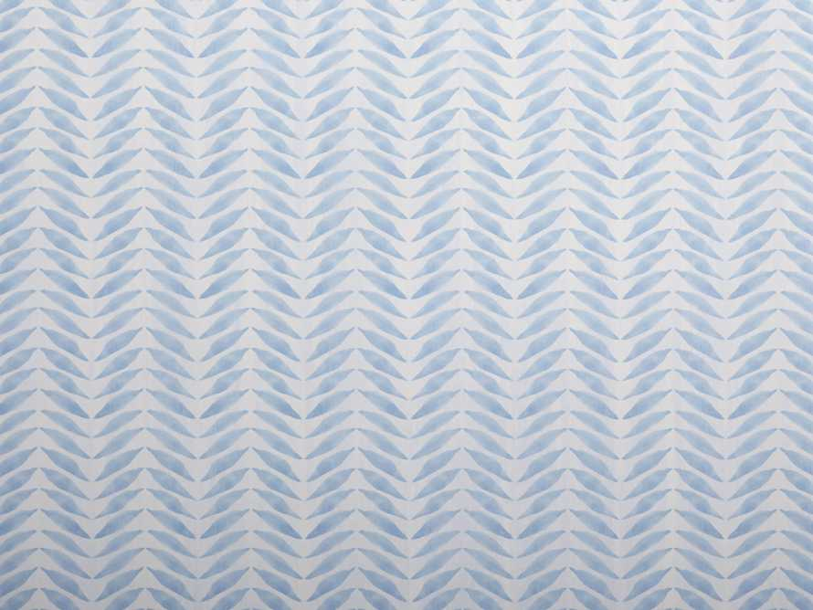 Wripple Chevron Wallpaper in Sky Blue