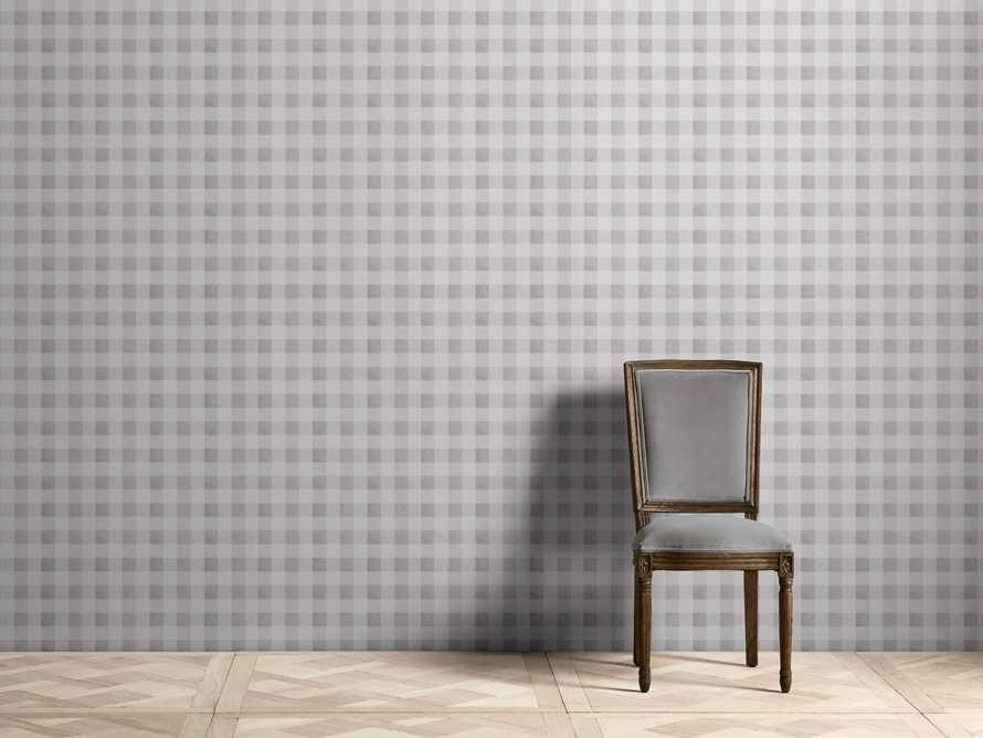 Gingham Wallpaper in Grey, slide 1 of 2