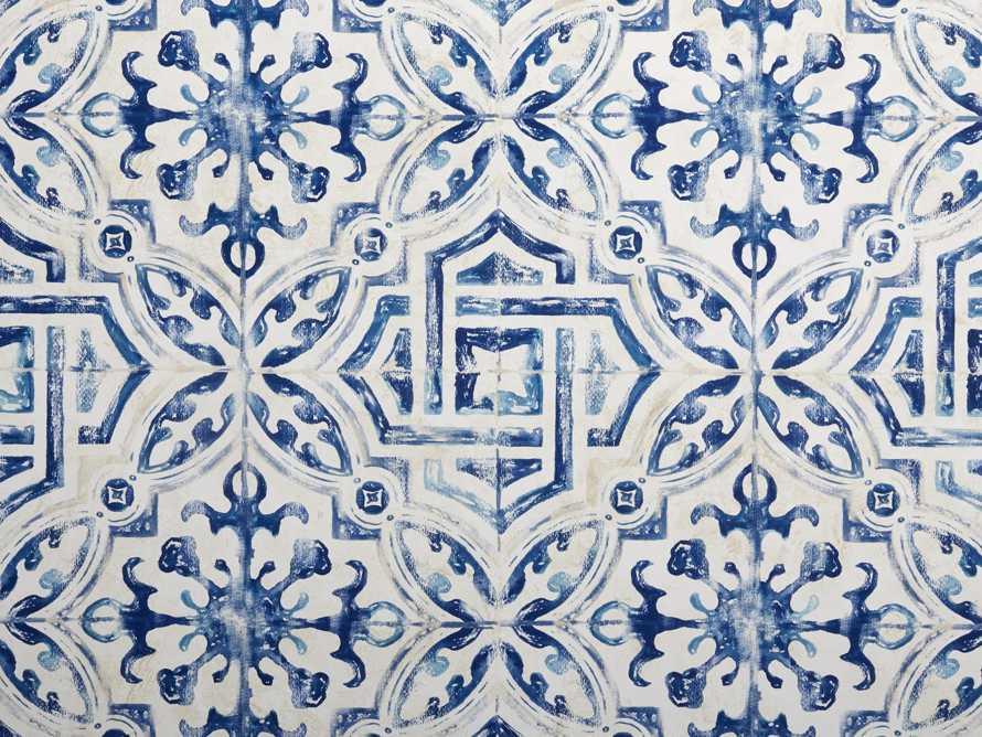 Arabesque Tile Wallpaper in Blue, slide 2 of 2