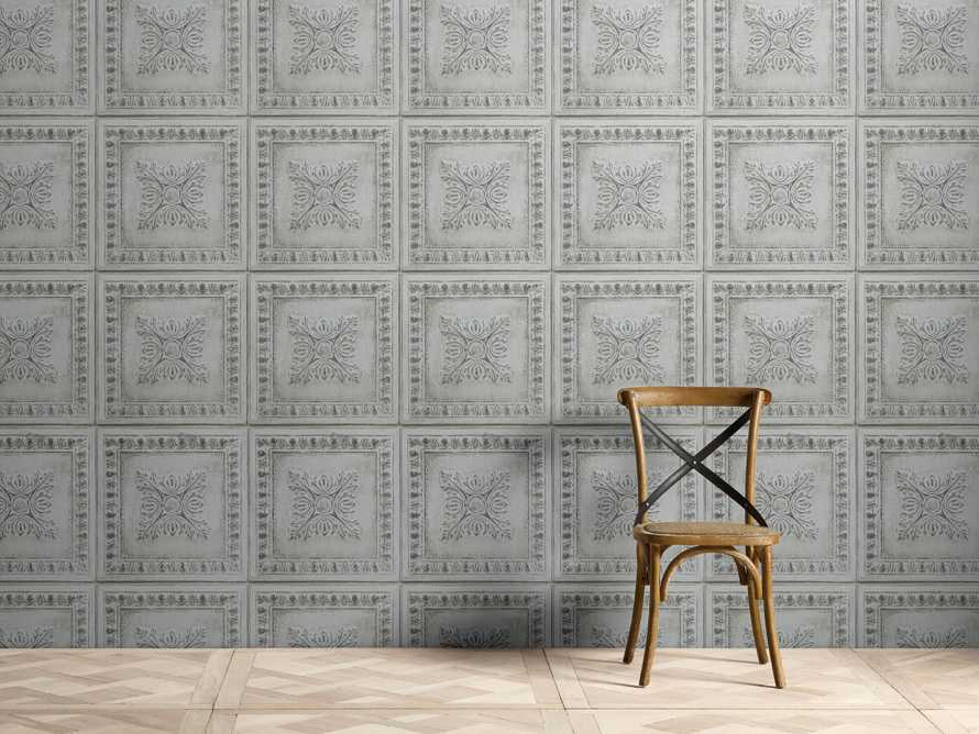 Avalon Tin Tile Wallpaper in Mint, slide 1 of 2