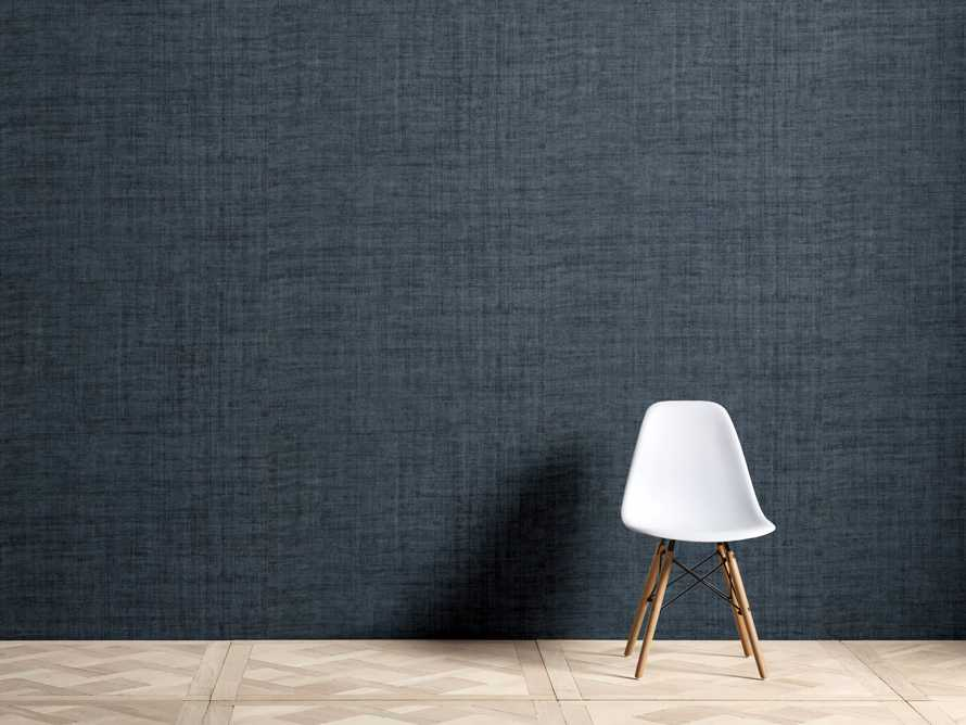 Luzon Grasscloth Wallpaper in Denim, slide 1 of 3