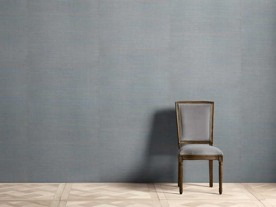 Farah Grasscloth Aqua Wallpaper, slide 1 of 2