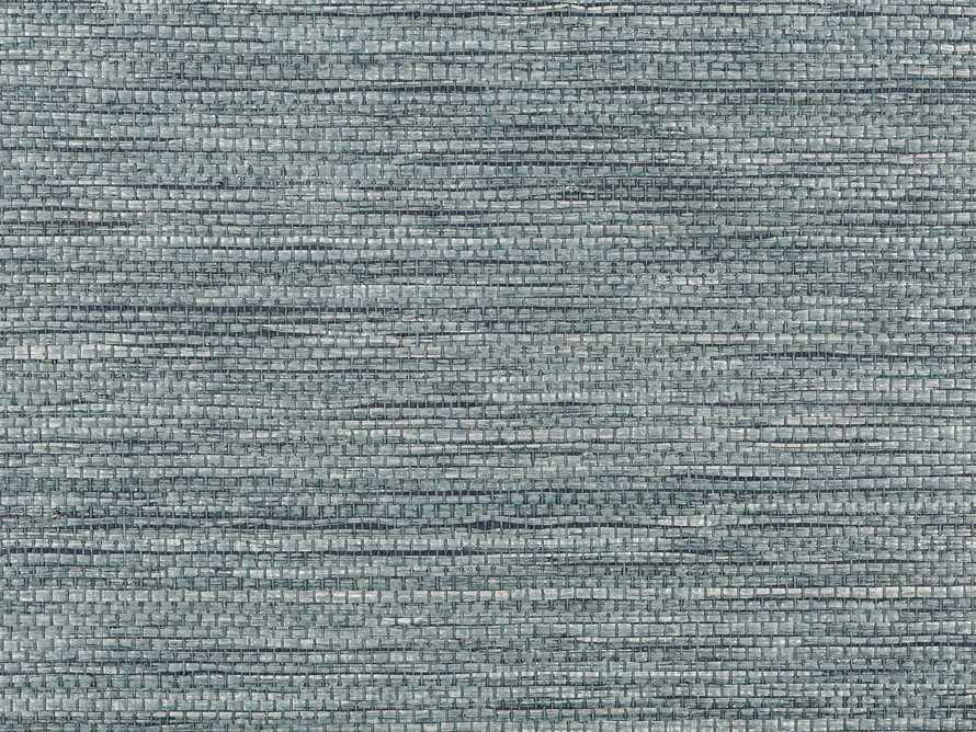 Johnston Grasscloth Wallpaper in Blue, slide 3 of 3