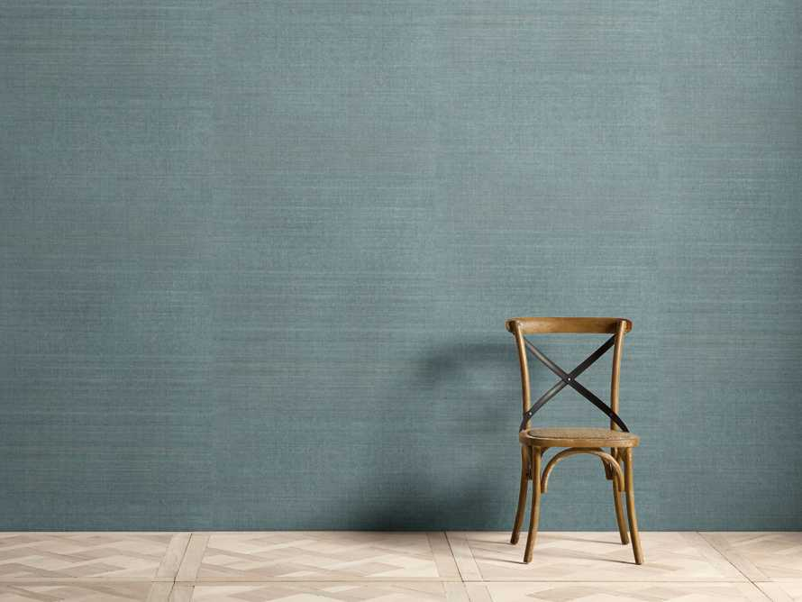 Remie Grasscloth Wallpaper in Teal, slide 1 of 3