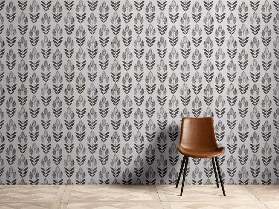 Laurel Wallpaper in Black, slide 1 of 2